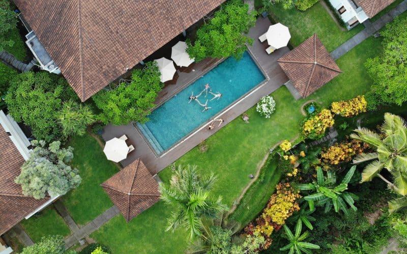Aearial view of Villa Bumi Artura in Ubud