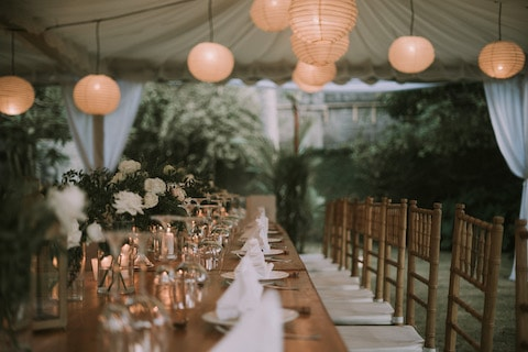 Wedding setup at Villa Manis