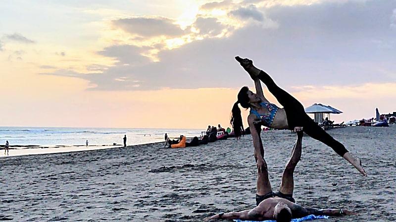 Reasons to Return To Bali - Acroyoga in Canggu
